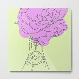 Rose and lemonade Metal Print