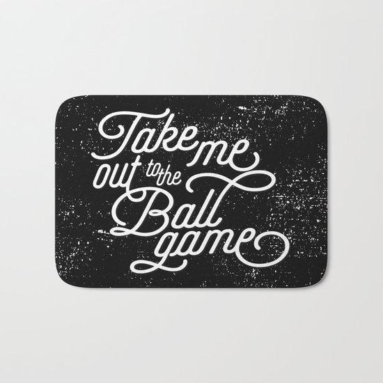 Take Me Out to the Ballgame v1 Bath Mat