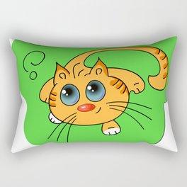 cute kitty Rectangular Pillow