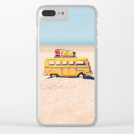 Travel toy van Clear iPhone Case