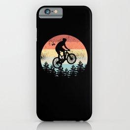 Mountain Biking Sunset Cyclist MTB Gift iPhone Case