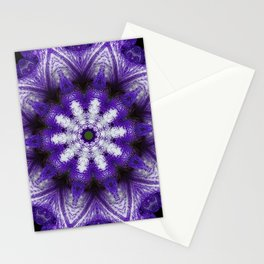 Glowing Violet Star - Iris Stepping Out Kaleidoscope Stationery Cards
