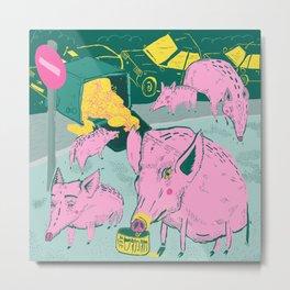 Pigggies Metal Print