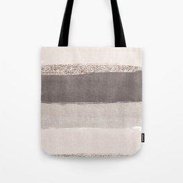 Blush tones watercolor ombre gold glitter brushstrokes Tote Bag