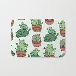 Cacti Cat pattern Bath Mat