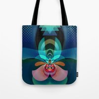 orchid Tote Bags featuring Orchid by GypsYonic