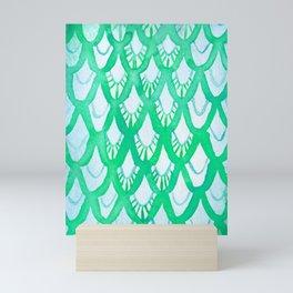 Watercolor Scale Pattern (Light Green) Mini Art Print