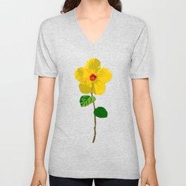 Flower No. 6: Hibiscus Unisex V-Neck