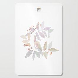 Rustic Floral Watercolor Monogram - Letter C Initial Cutting Board