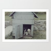 puppies Art Prints featuring Puppies by JoeHep