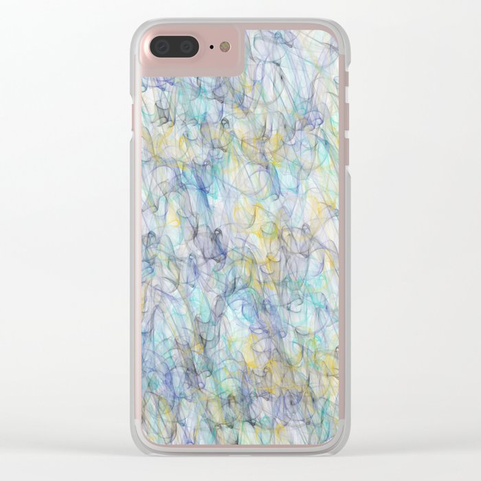 Smoke pattern Clear iPhone Case
