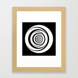 Black White Circles Optical Illusion Framed Art Print
