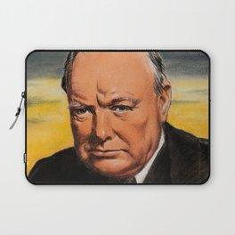 Winston Churchill Portrait Laptop Sleeve