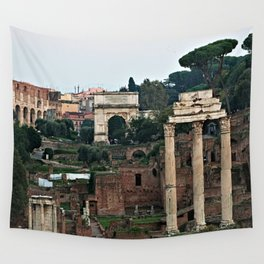 Monuments Roman Forum Colosseum of Rome Temple Italy Wall Tapestry