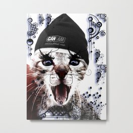 CRAZY CAT Metal Print