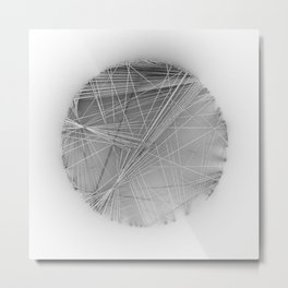 Wireframe Composition No. 14 Metal Print