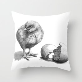 Chick sk132 Throw Pillow