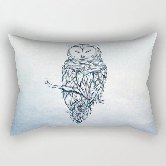 Snow Owl Rectangular Pillow