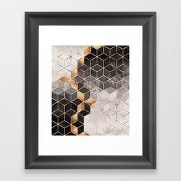 Smoky Cubes Framed Art Print