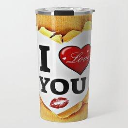 I love you paper Travel Mug