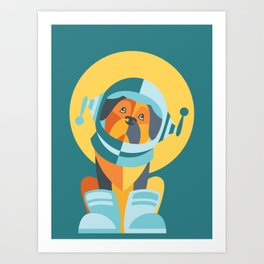 One Giant Leap for All Muttkind Art Print