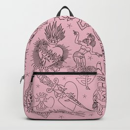 Traditional Tattoo backpack pink Backpack