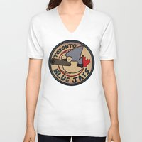 toronto V-neck T-shirts featuring Toronto Mordecais by Placeholder Tees