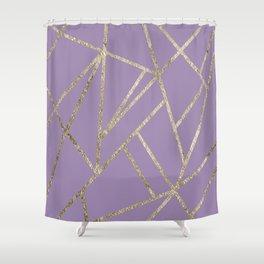 Classic Lavender Gold Geo #1 #geometric #decor #art #society6 Shower Curtain