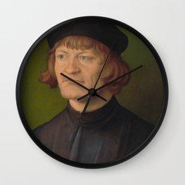 Albrecht Dürer - Portrait of a Clergyman (Johann Dorsch?) Wall Clock