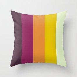 Classic 70s Retro Stripes Throw Pillow