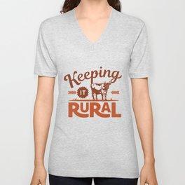 Keeping it Rural - Farm Style Unisex V-Neck