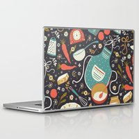 coasters Laptop & iPad Skins featuring Carrot Cake by Anna Deegan