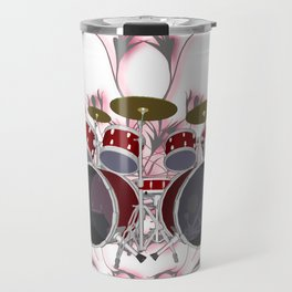 Drum Kit with Tribal Graphics Travel Mug