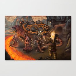 Lava Turtle Canvas Print