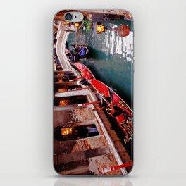 Gondolas On A Small Venetian Canal iPhone Skin