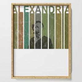 Alexandria Ocasio-Cortez Feminist Political Serving Tray