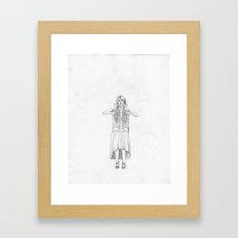 Exposure, pencil illustration Framed Art Print
