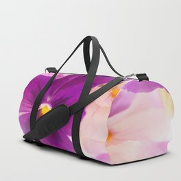 Flower Bouquet in Purple and Pink Colors  #decor #society6 #buyart Duffle Bag
