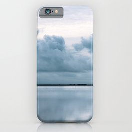 Epic Sky reflection in Iceland - Landscape Photography iPhone Case