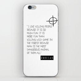 Zodiac Killer iPhone Skin
