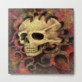 Skull Abstract Metal Print