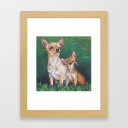 Chihuahua Fine Art Dog Painting from an original painting by L.A.Shepard Framed Art Print