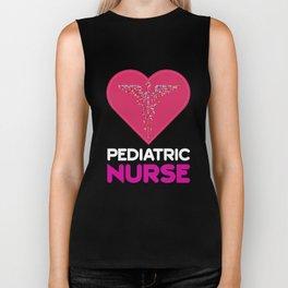 Adorable Pediatric Nurse Design PNCB RNs Biker Tank