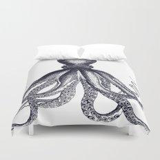 Octopus | Black and White Duvet Cover