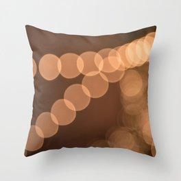 Lights Shine in Night Skies Throw Pillow