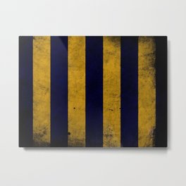 Harry Yellow And Blue Stripes Metal Print