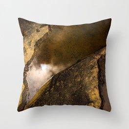 Reflection on a Broken Earth Throw Pillow