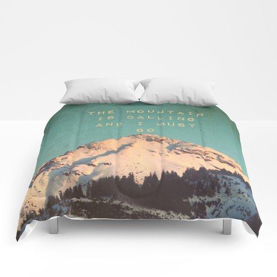 Mountain Is  Calling Comforters
