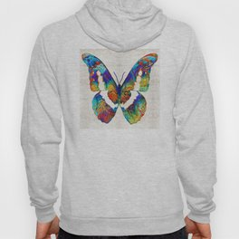 Colorful Butterfly Art by Sharon Cummings Hoody