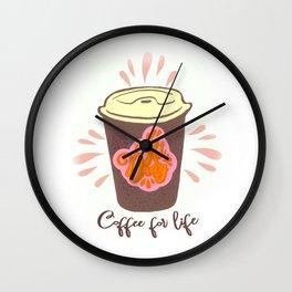 Hot dang coffee Wall Clock